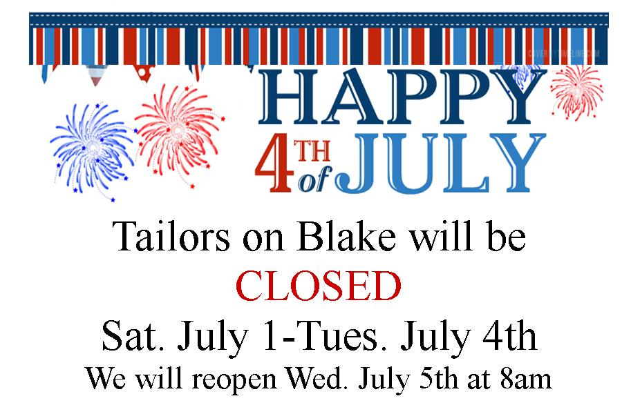 4th of july closed sign