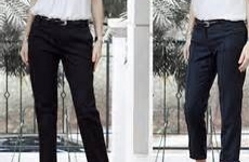 Crop and taper those classic black pants